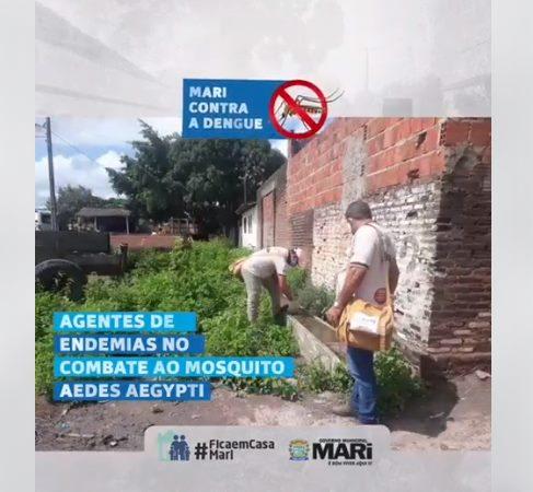 Em Mari, Secretaria de Saúde realiza ação de combate a dengue nos bairros